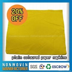 Wolesale Nonwoven Eco-friendly Colorful Paper Napkin Paper Serviette
