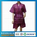 nonwoven Kimono, bathing gown and beauty clothes