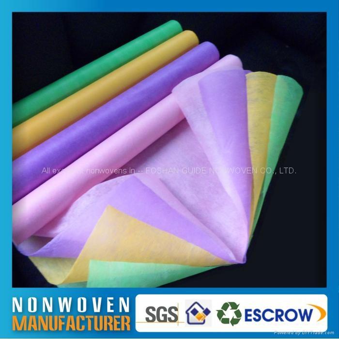 包装用的彩色化学粘合法无纺布 1