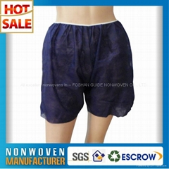 Eco-friendly Dark Blue Disposable Nonwoven Underwear Man Boxer Shorts
