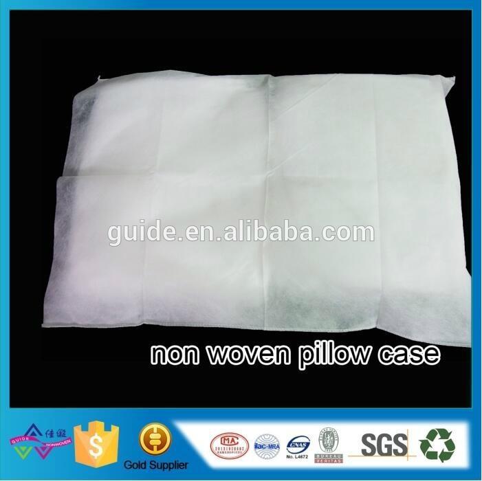 Home Disposable Non Woven Pillow Case Home Textile White Non Woven Pillow Cover