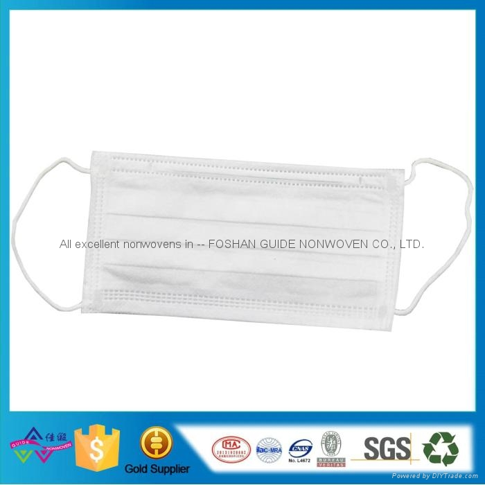 Breathable 3ply Nonwoven Disposable Face Mask for food Processing Workshop