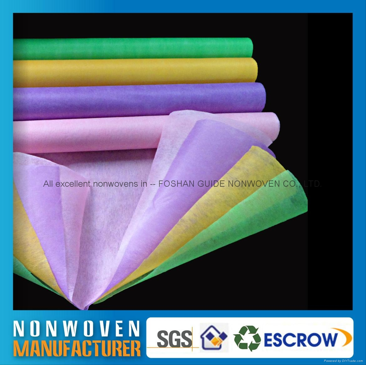 Chemical Bonded Nonwoven For Clothes Shoe Interlining Flower Wrapping Filter 2