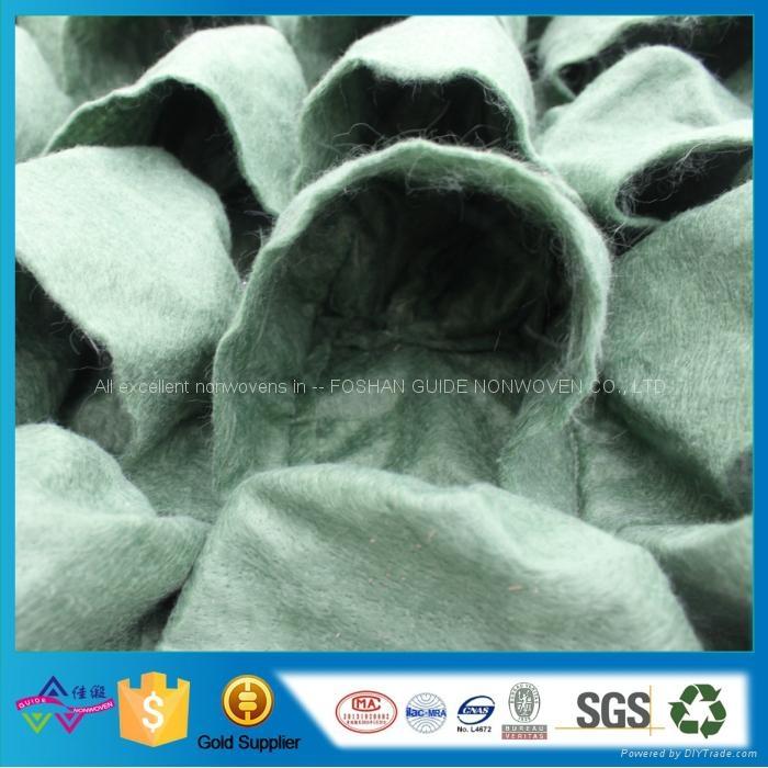现货81口袋绿色毛毡美植袋 植物墙面植物袋 壁挂种植袋 5