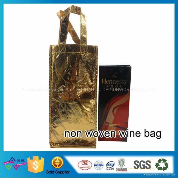 供應復膜無紡布廣告購物紅酒禮品收納袋 1