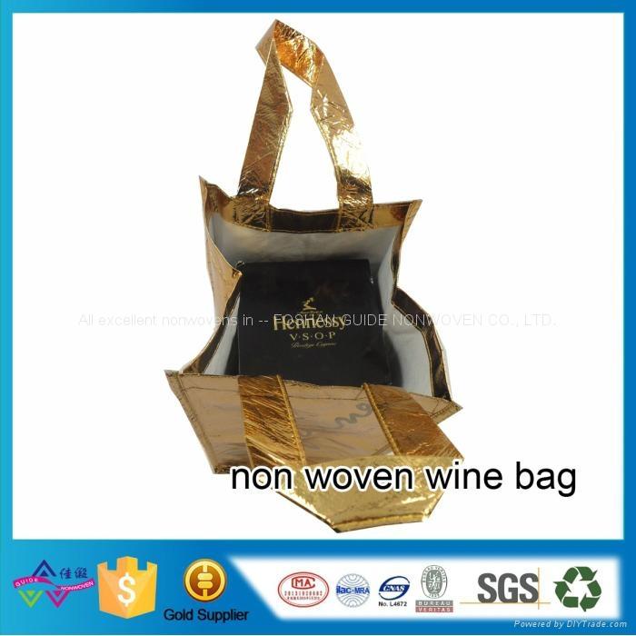供應復膜無紡布廣告購物紅酒禮品收納袋 2