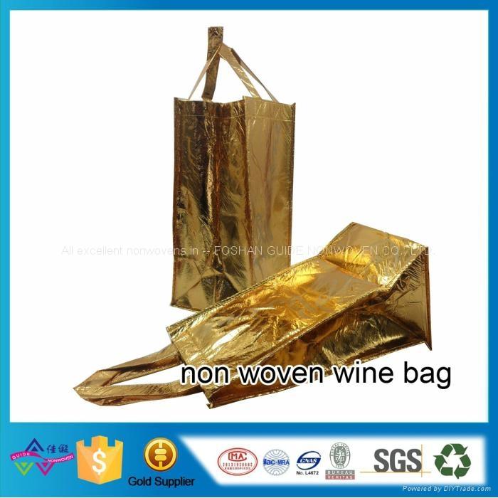供應復膜無紡布廣告購物紅酒禮品收納袋 3