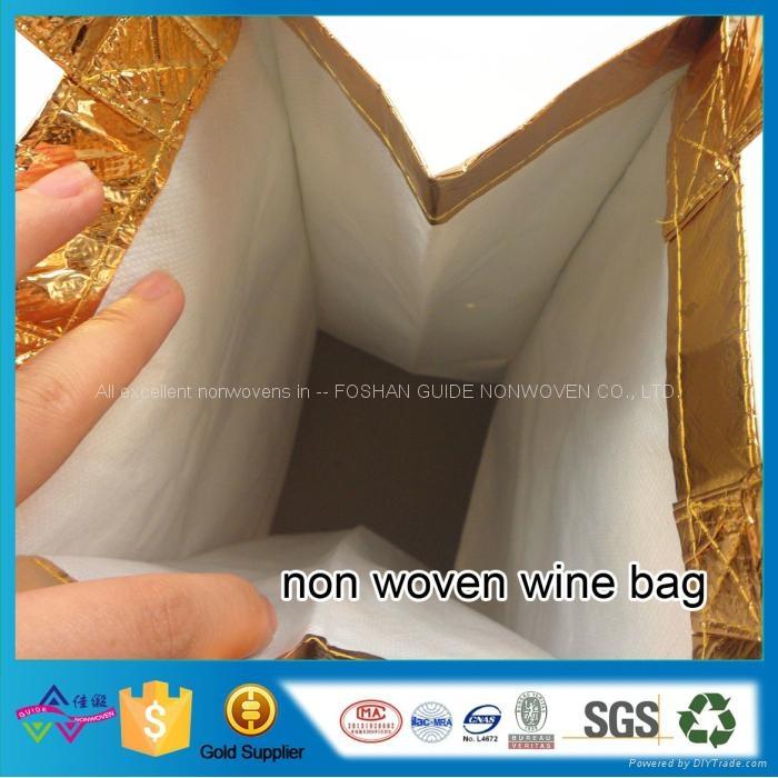 供應復膜無紡布廣告購物紅酒禮品收納袋 4