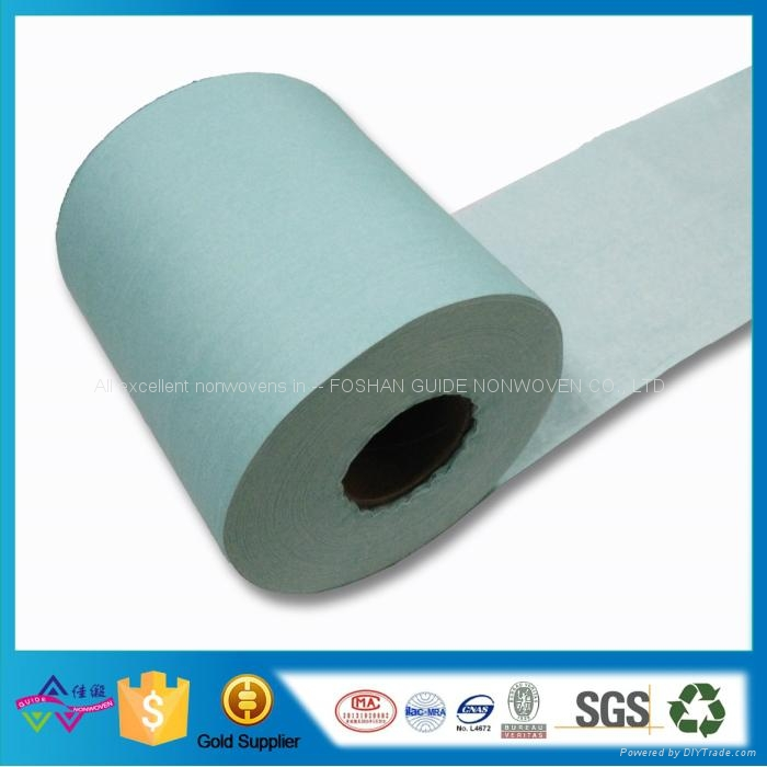 Wood Pulp Spunlace Nonwoven Fabric For Industrial Wiping