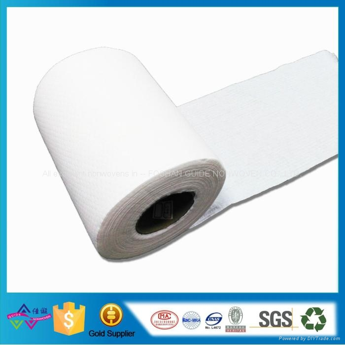 Wood Pulp Spunlace Nonwoven Fabric For Wet Towel Compressed Towel Kitchen Clean
