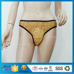 Leopard Print Nonwoven Underwear Disposable  Maternity Panties With Sanitary Pad