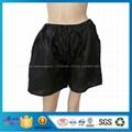 Eco-friendly Black Disposable Nonwoven Underwear Man Boxer Shorts