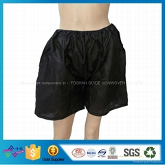 Eco-friendly Black Disposable Nonwoven Underwear Man Boxer Shorts