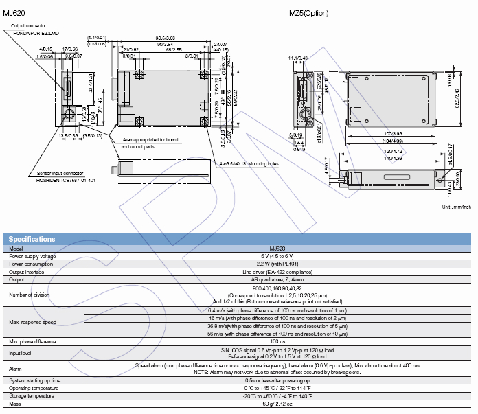SONY/Magnescale转换器MJ100/MJ110/MJ620 4