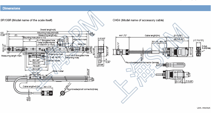 磁栅尺SR128-015,SR138-015R,GB-015ER 1