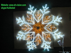 led snowflake led motif light street motif