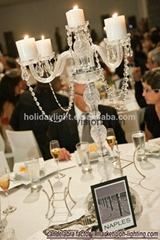 wedding crystal glass candelabra