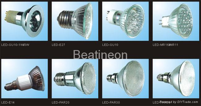 LED 射燈 MR16/GU10/E27 1