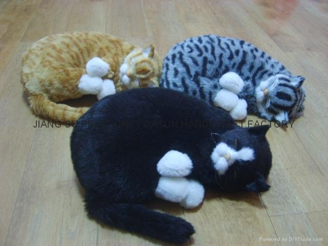Plush Toy -----sleeping baby and cat