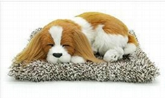 syntheic fur animal  sleeping dog