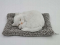 synthetic fur animals sleeping cat