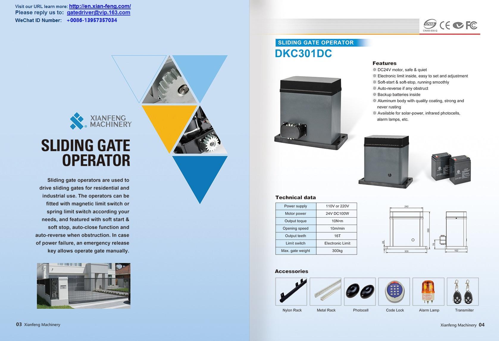 DKC360Y Automatismos para portas Gear Reducer 5