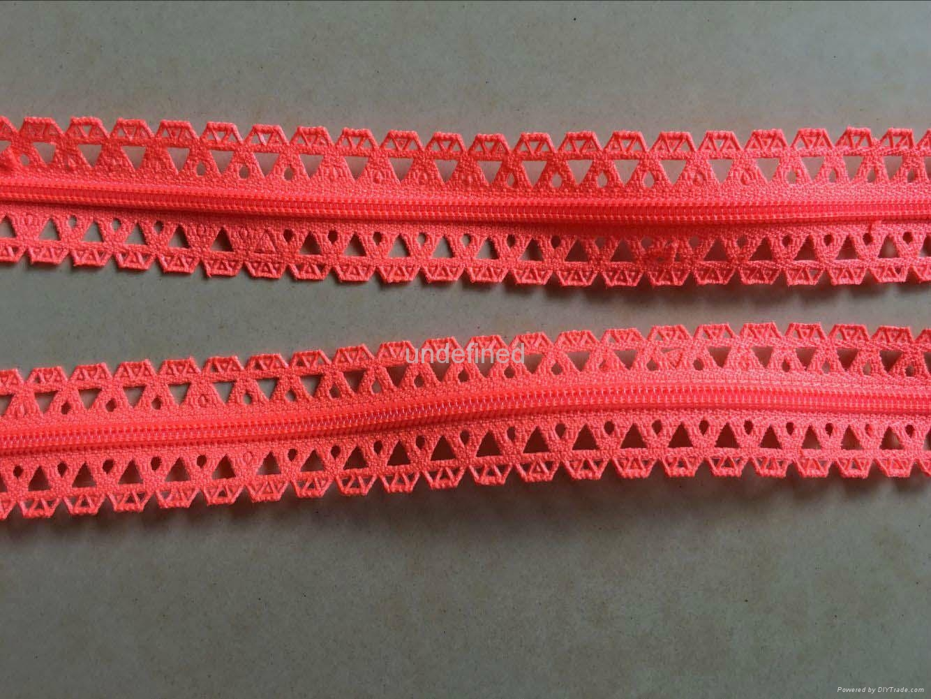 Zipper lace