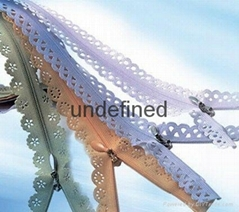 Lace zipper, nylon zipper, metal zipper