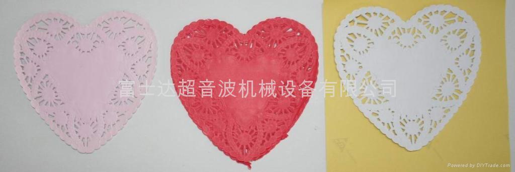 Heart form cup mat