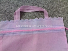 Puts on the rope bag, the environmental protection shopping bag