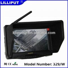 利利普 329/W 内置31频道5.8G接收器 7寸航拍FPV显示器