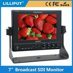 利利普 663/S 7寸高清3G-SDI 广播级HDMI监视器IPS屏 金属外壳