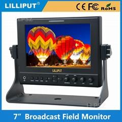 利利普663/O/P2 7寸高清HDMI监视器 带波形/矢量/直方图 手提铝箱
