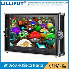 利利普BM280-6G全新6G-SDI技术28寸4K导演监视器3840x2160分辨率