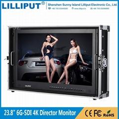 利利普 BM230-6G全新单链路6G-SDI 技术23.8寸4K箱载式导演监视器
