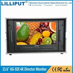 利利普 BM150-6G 全新单链路6G-SDI 15.6寸4K箱载式导演监视器