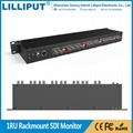 利利普 RM-0208S 2寸 八进八出 1U 广播级机柜式3G-SDI监视器8bit液晶屏 2