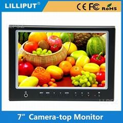 利利普 664 超薄7寸摄影监视器 7寸高清hdmi显示器 复合信号输入