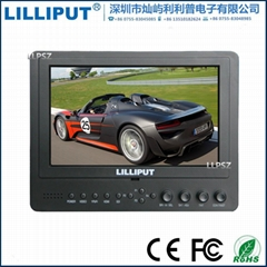 665/O/P 7 Inch LILLIPUT LCD Camera Top Monitor With Peaking Filter