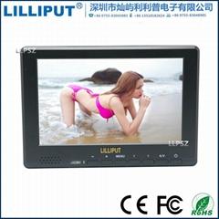 利利普667GL-70NP/H/Y 7寸高清hdmi监视器摄影单反F970电池扣板