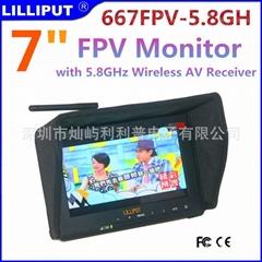 利利普 7寸FPV航拍hdmi监视器 内置5.8G接收器 不蓝屏雪花点