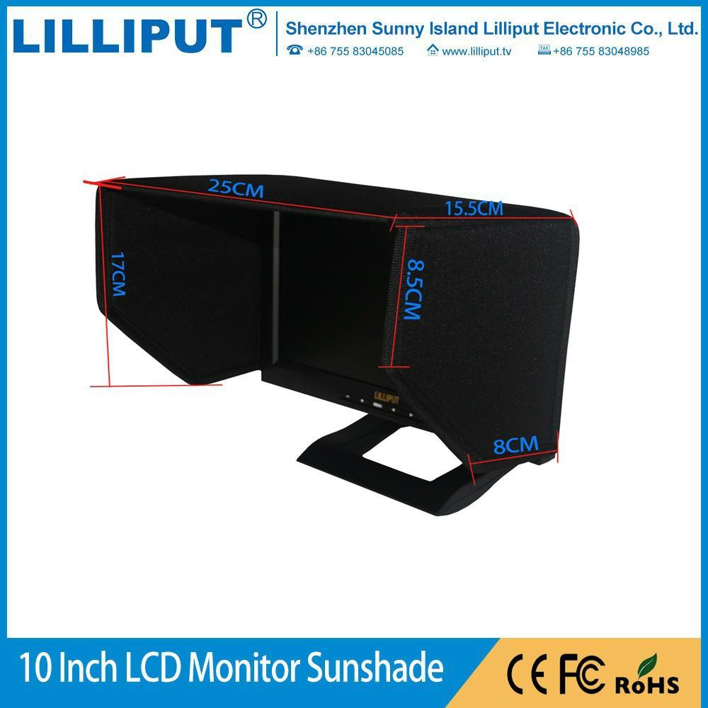 FPV 10寸單反攝影液晶監視器遮光罩 牛津布料結實耐用 車載遮光罩 1