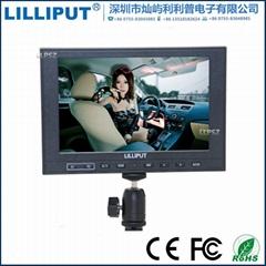 339 利利普7寸高清hdmi監視器內置鋰電池 IPS屏 1280*800分辨率