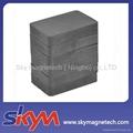 Block shape ferrite magnets