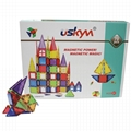 Kids Magnet Toys Magnet Building Tiles,  70pcs 3D Magnetic Building Blocks Set,