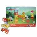 Kids magnetic Wisdom rail children construction magnetic toy ABS blocks