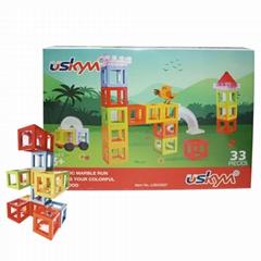 Kids magnetic Wisdom rail children construction magnetic toy ABS blocks