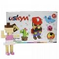 90PCS DIY Intelligence educational kids plastic magnetic building blocks toys 1