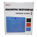 Plastic magnetic drawing board for kids magnetic writing pad