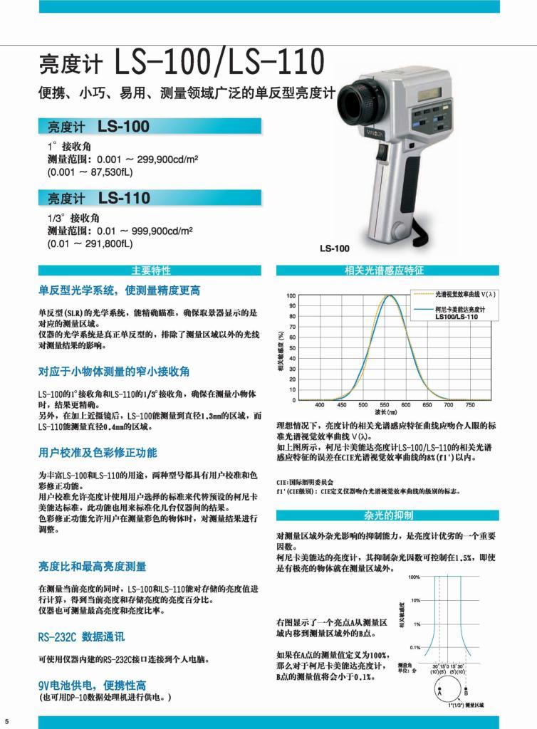 美能达LS-100/LS-110辉度计 1